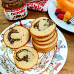 Nutella stuffed pancakes are portable and a great grab and go breakfast