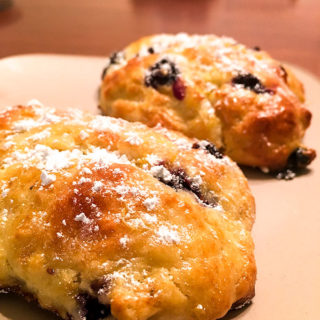 Blueberry Biscones, A Cross Between Blueberry Scones and Biscuits