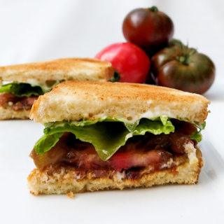 Change up a classic BLT sandwich with a twist with flavored mayo and special bacon