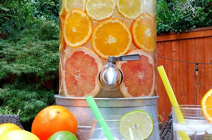 Citrus Infused Water is Called Spa Water, Nature's Soda