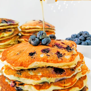 Buttermilk Blueberry Pancakes No Syrup Required