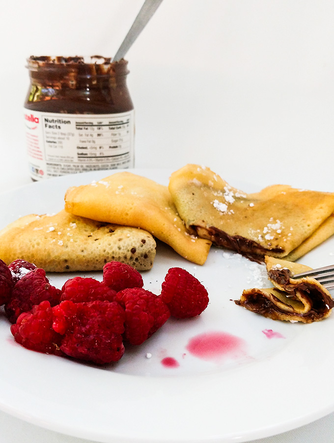 How To Make Crepes With Jam or Nutella - On The Go Bites