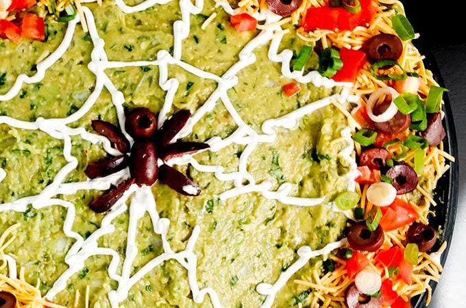 Halloween Spider Web Dip