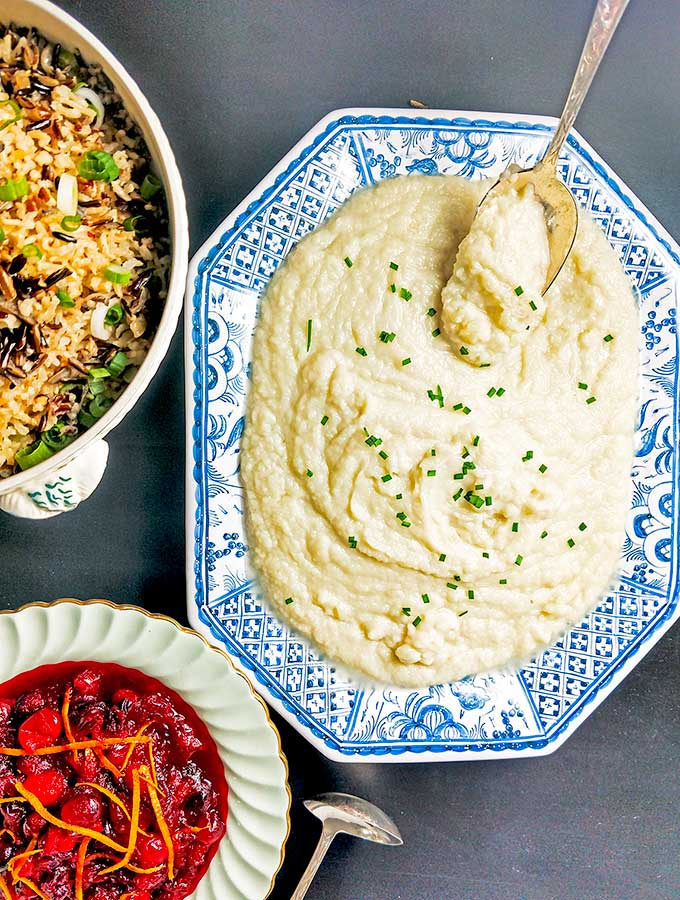 Quick Riced Cauliflower Recipe is an alternative to mashed potatoes