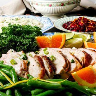 90 minute citrus turkey breast dinner