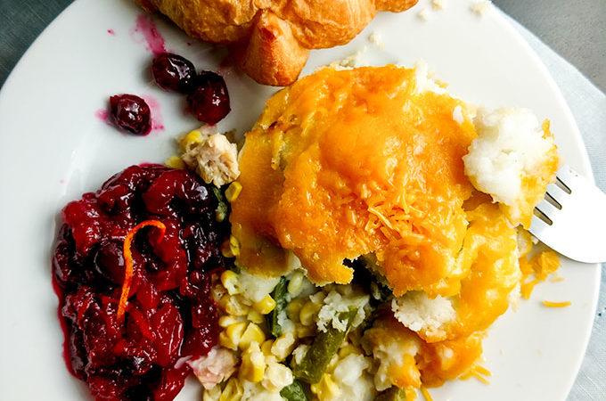 Thanksgiving Leftovers Turkey shepherds pie from leftover Thanksgiving dinner