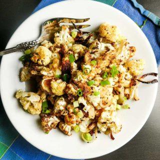 roasted cauliflower and onion