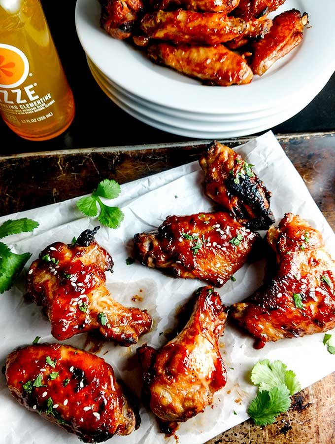Asian chicken wings are sticky sweet and irresistable