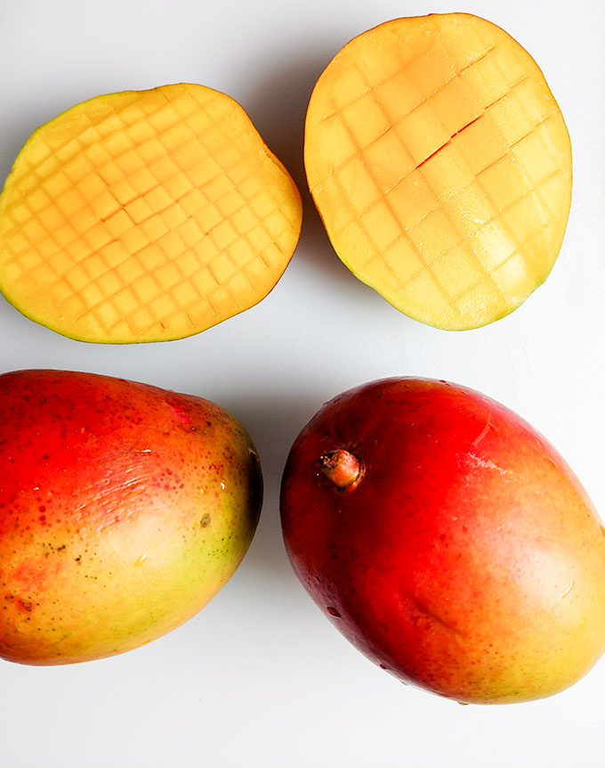 How to cut mango dices