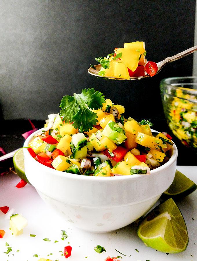Mango salsa with a kick