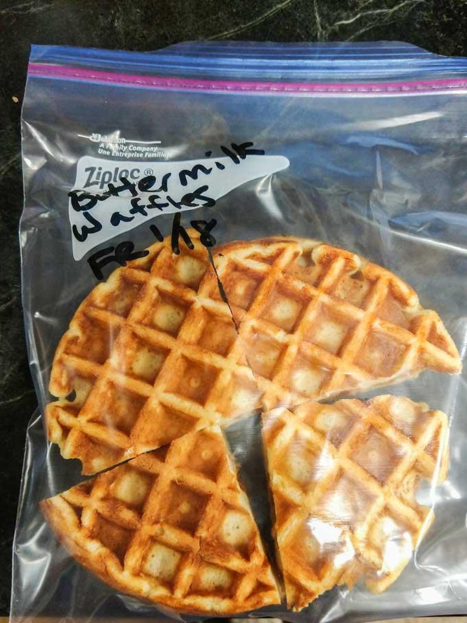 freezing buttermilk waffles
