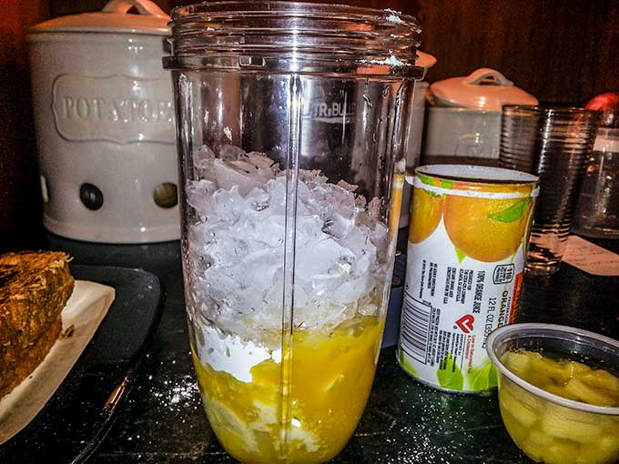 Frosted orange smoothie