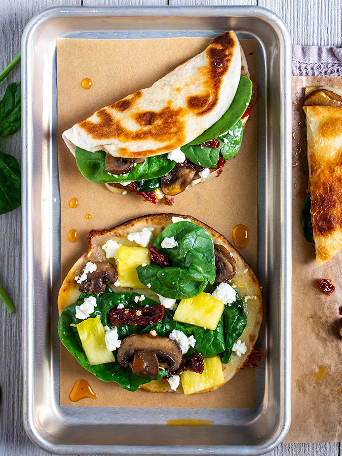 Vegetarian Quesadilla Recipe Mediterranean Style On The Go Bites