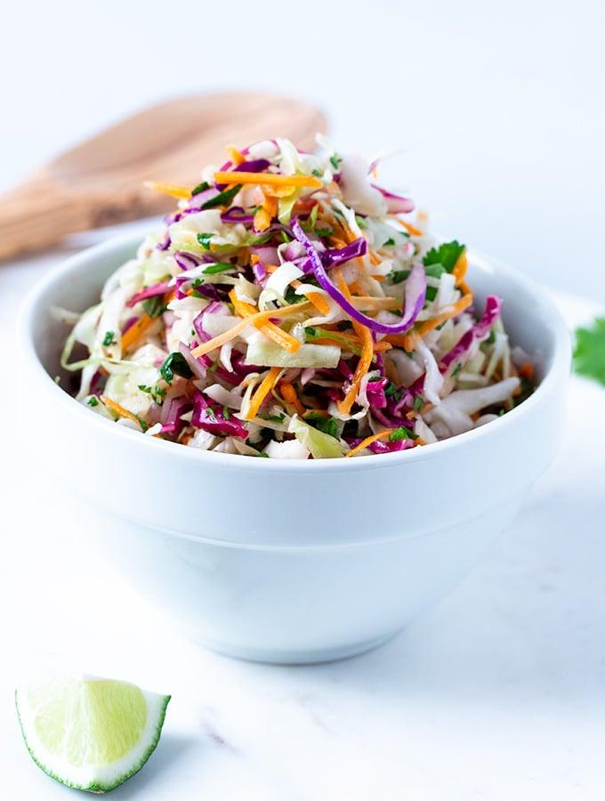 Vinegar Coleslaw Recipe On The Go Bites